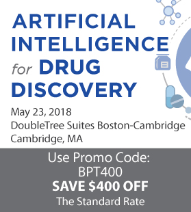 Artificial Intelligence for Drug Discovery -- May 23, 2018, Cambridge, MA USA