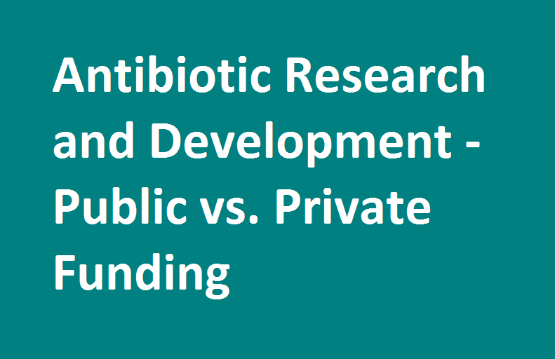 Antibiotic Research and Development - Public vs. Private Funding