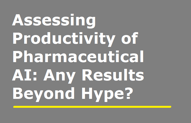 Assessing Productivity of Pharmaceutical AI: Any Results Beyond Hype?