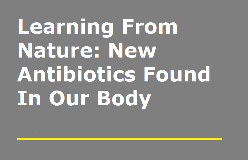 Learning From Nature: New Antibiotics Found In Our Body