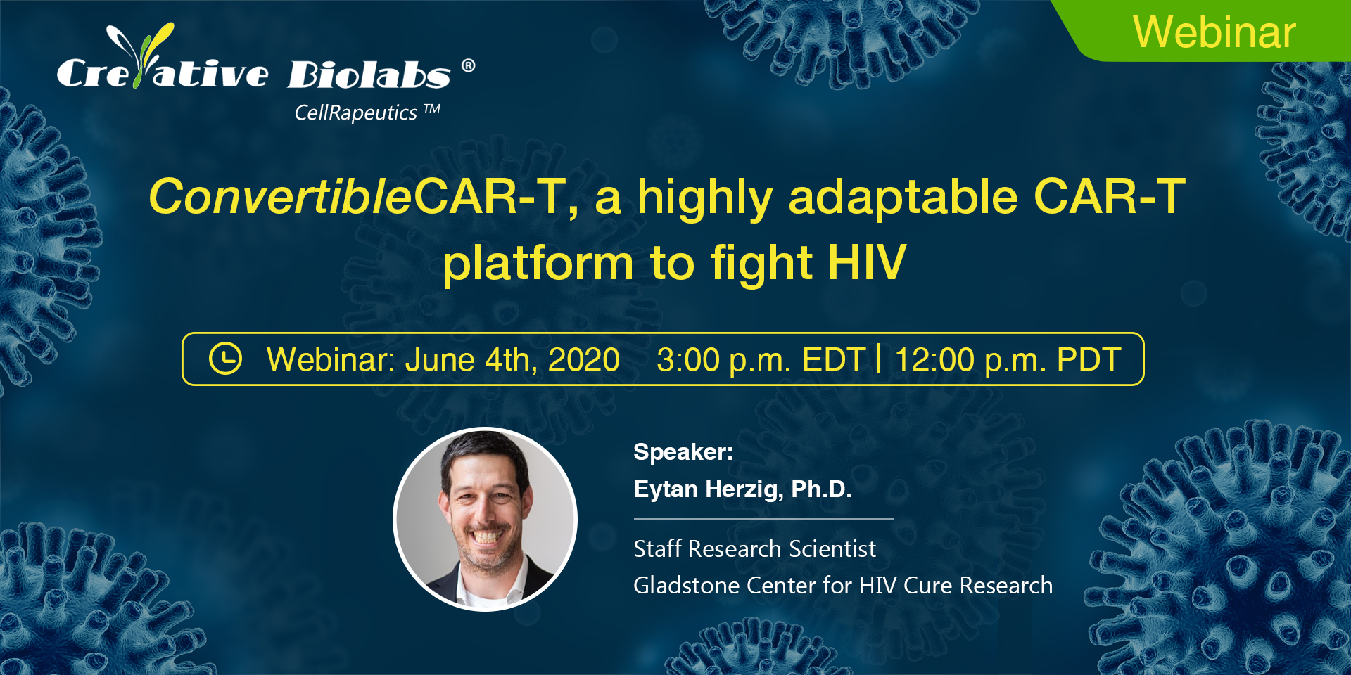 Update: Registration for Creative Biolabs' Webinar About ConvertibleCAR-T Is Now Opened