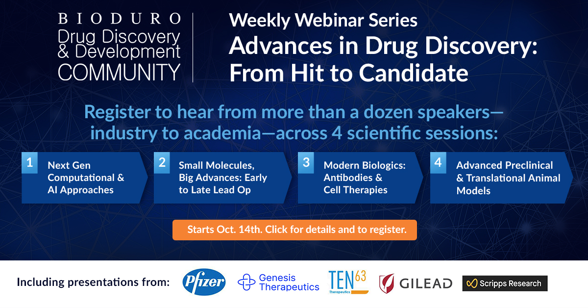 Advances in Drug Discovery from Hit to Candidate Webinar